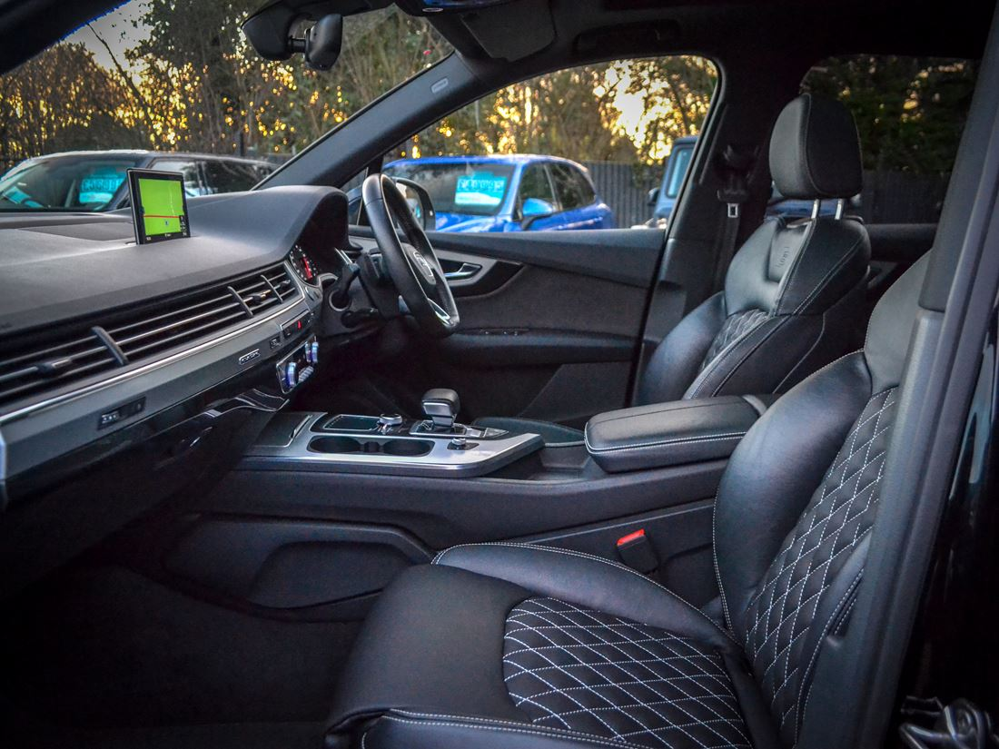 Audi q7 leather custom interior