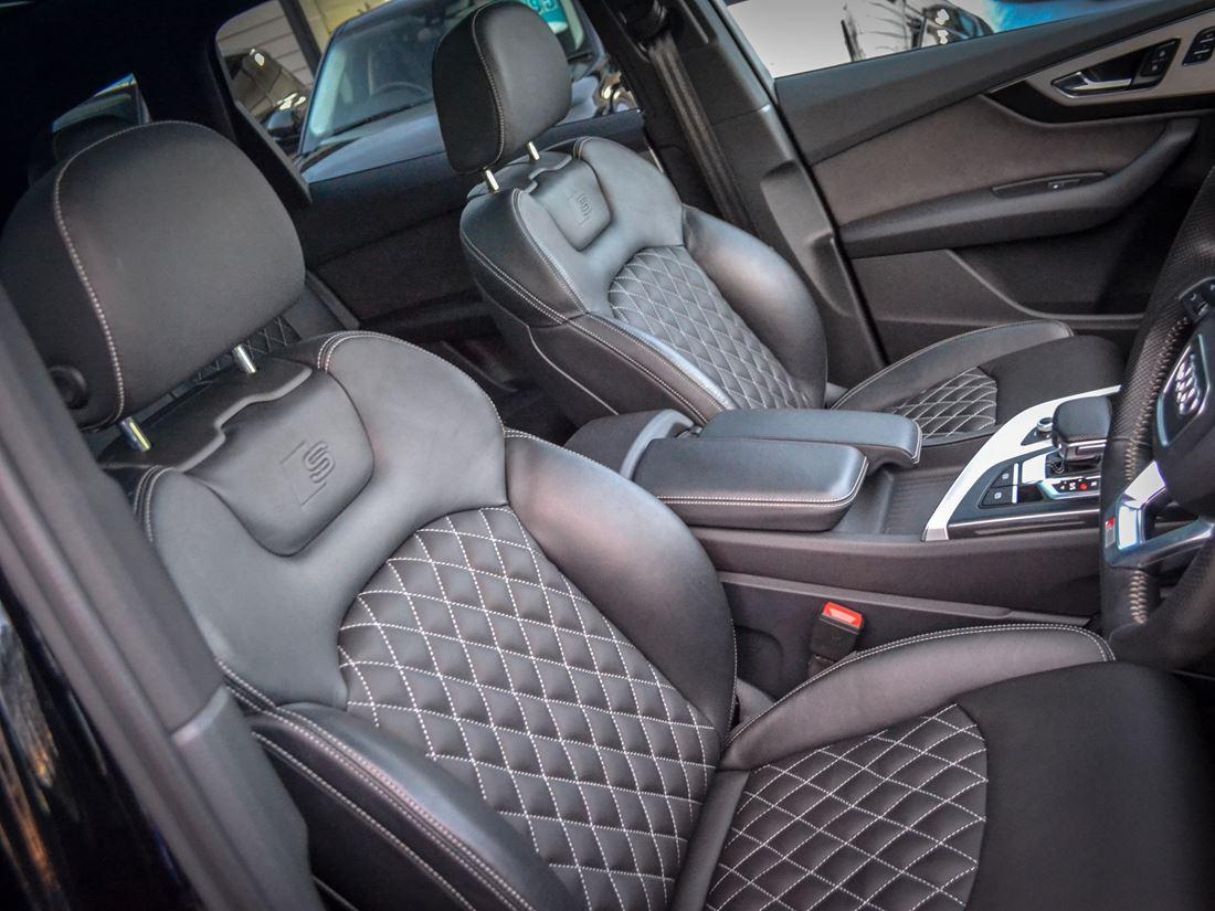 Audi q7 leather custom interior